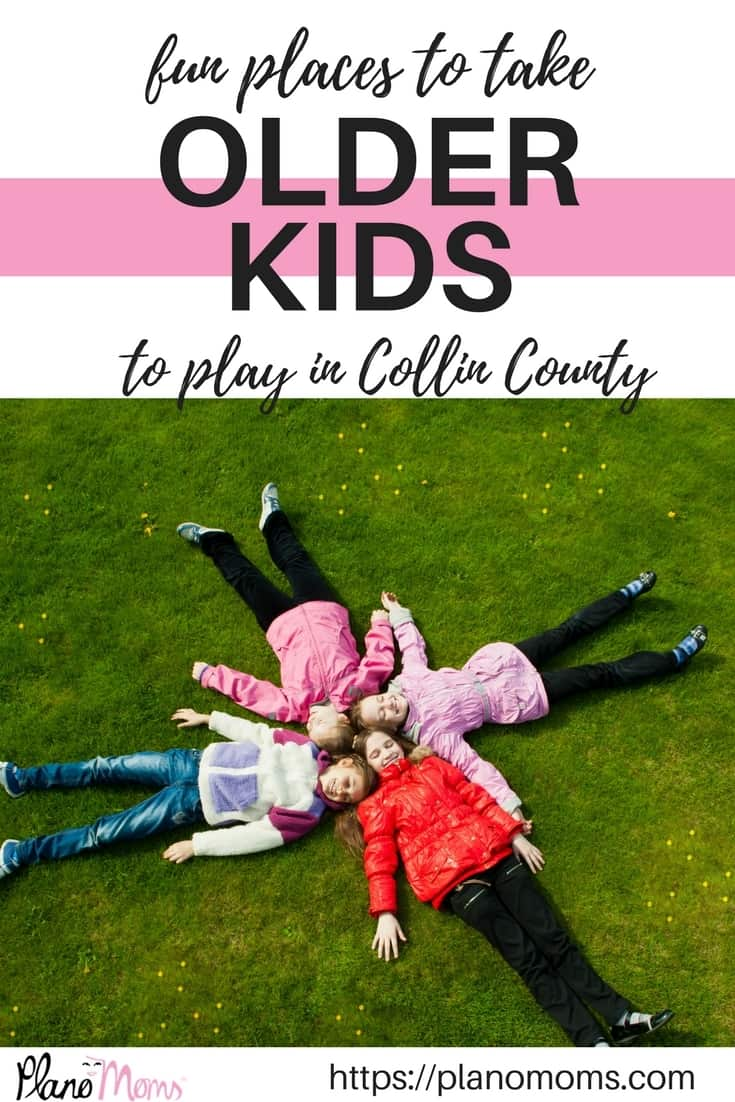 A list of fun places to take older kids to play in Collin County