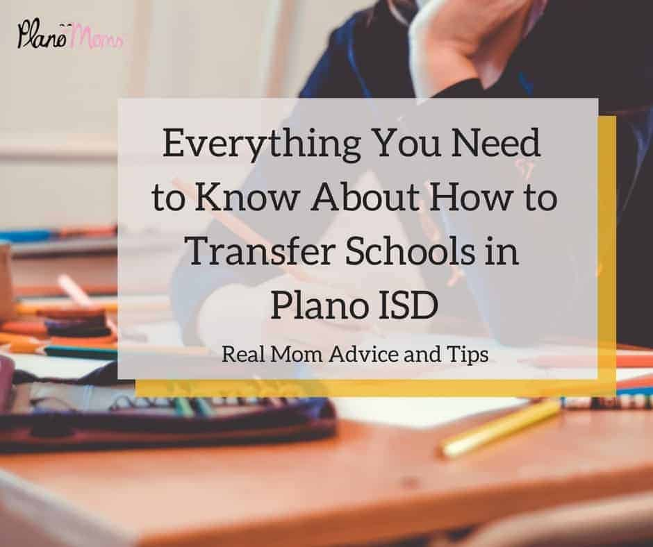 how to transfer schools in Plano ISD