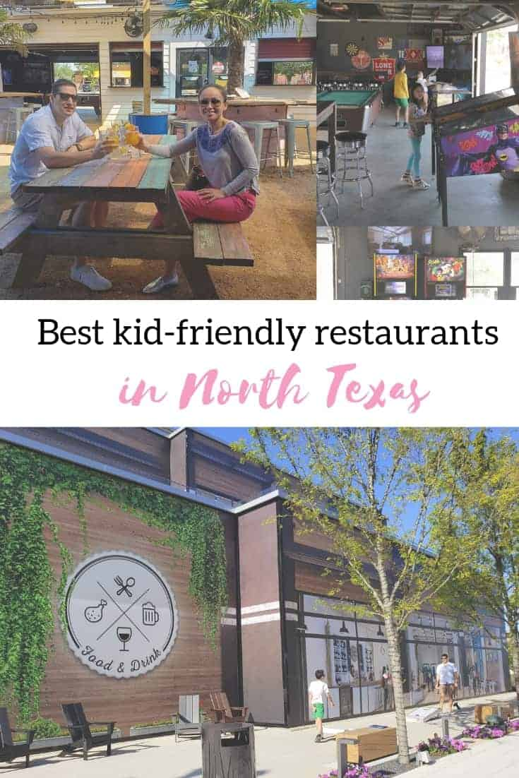 Kid friendly restaurants in North Texas