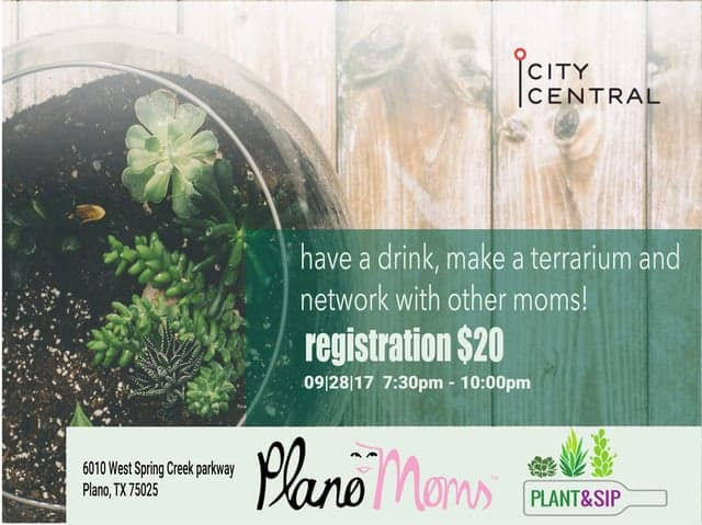 plano moms plant and sip event