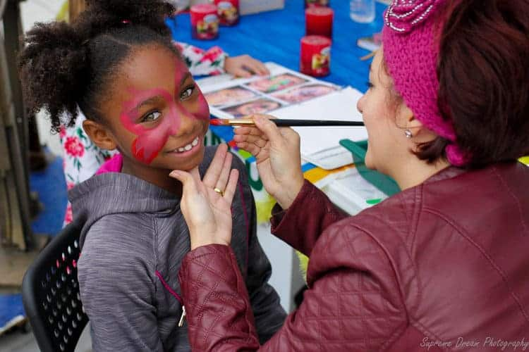 Kids face painting Steinfest Plano