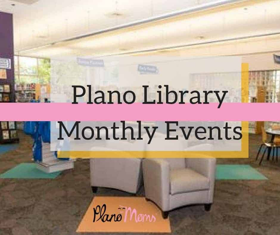 Plano Library Monthly events