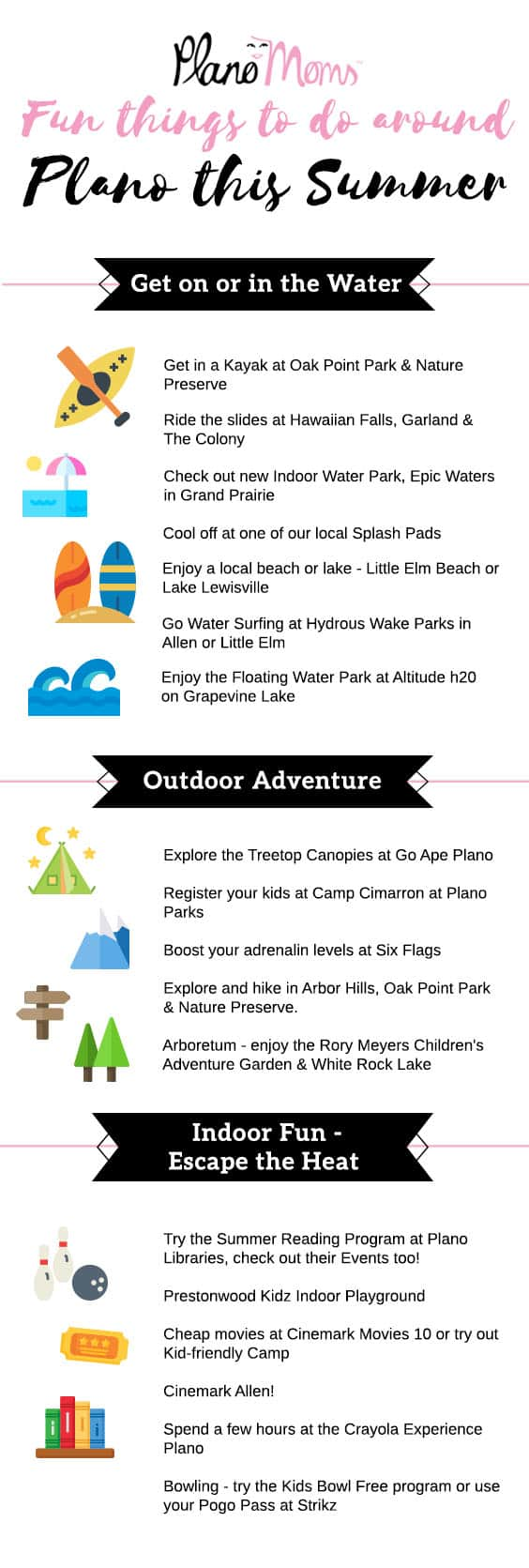 Summer Fun ideas around Plano