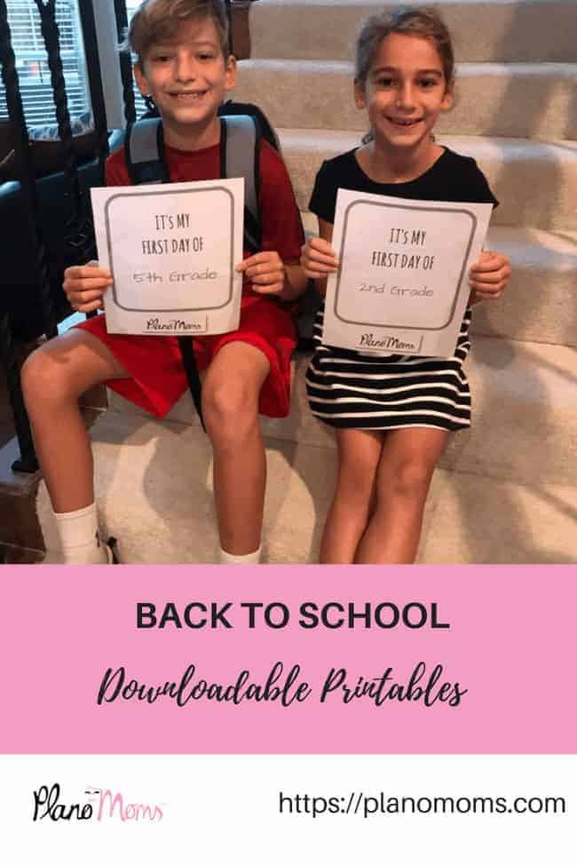 Back to School Printables Plano, TX