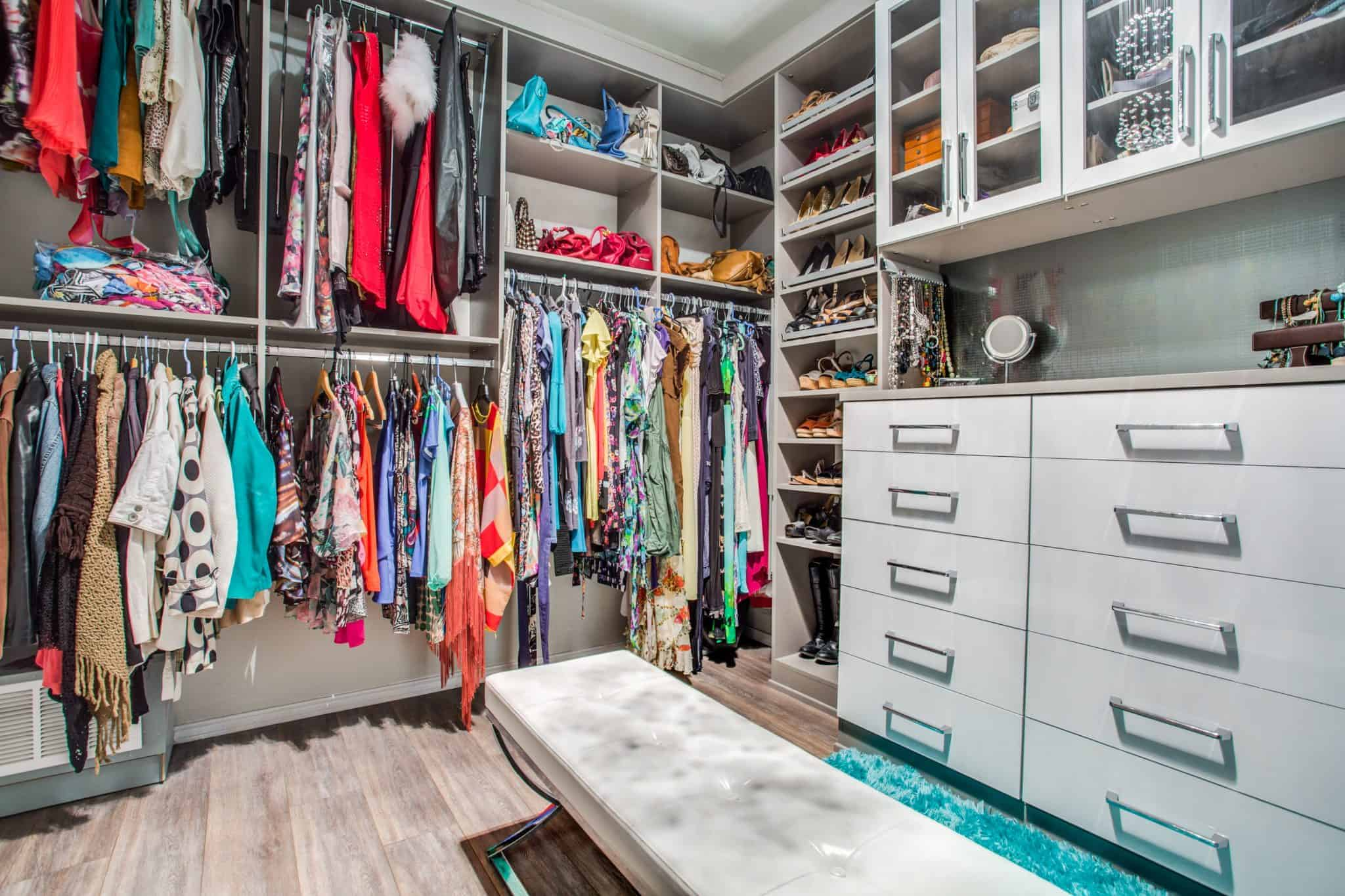 California Master Closet in Plano