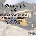 Daycare or Childcare providers