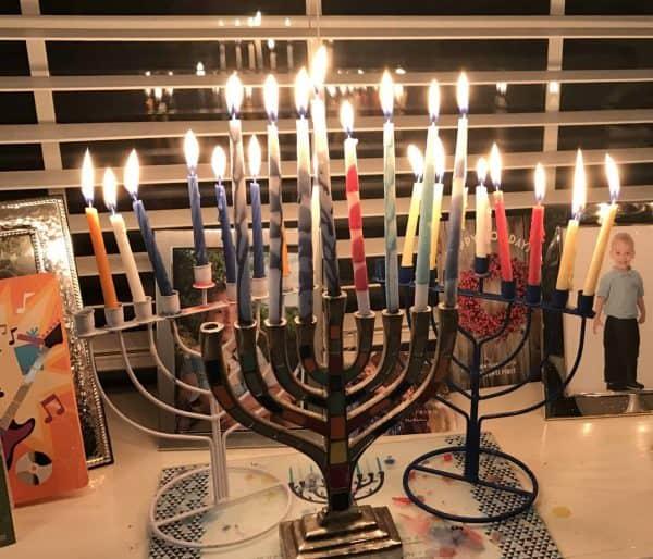 Hanukkah lights Plano TX