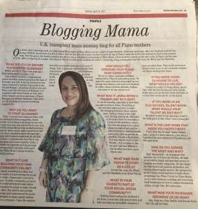 Blogging Mama - Plano Star Courier