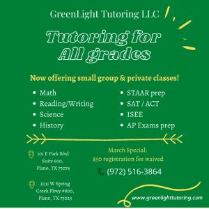 Greenlight Tutoring in Plano TX