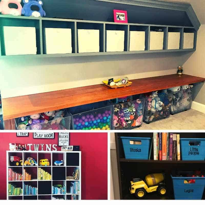 Playroom and hallway organizing