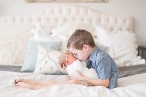 Newborn and Brother photo