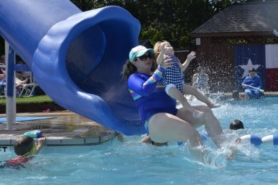 The Texas Pool Plano slide