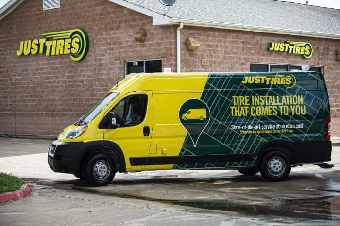 Just Tires Mobile Van in DFW