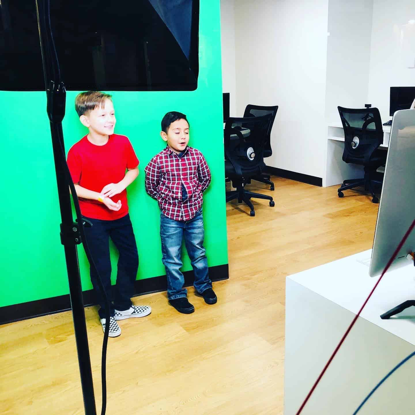 KidZania Dallas media studio with kids
