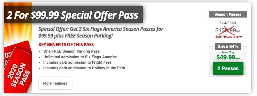 Six Flags Black Friday deal