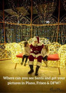Santa photos in Plano