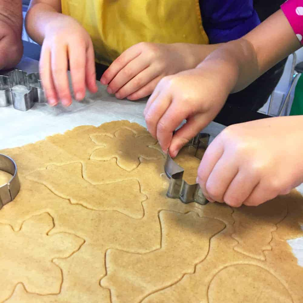 Kids using cookie cutters in Plano TX