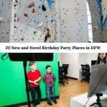 Birthday parties - new and novel