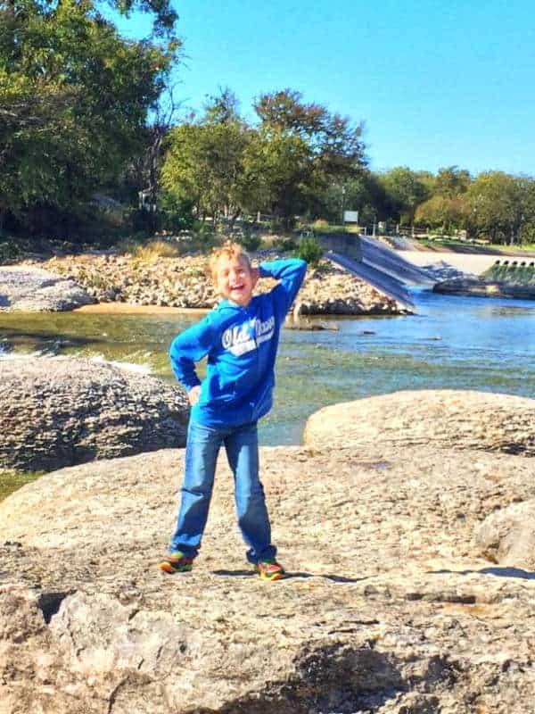 Boy in Big Rocks Park
