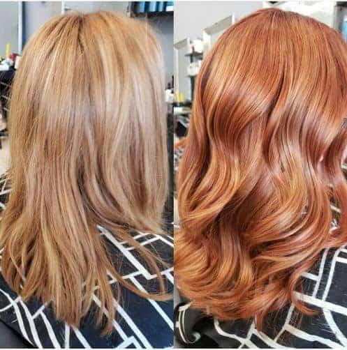 Platinum Rose hair