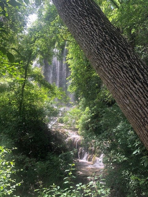 Waterfall at Colorado Bend State Park