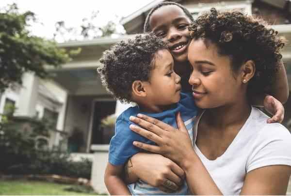 Black family in Plano