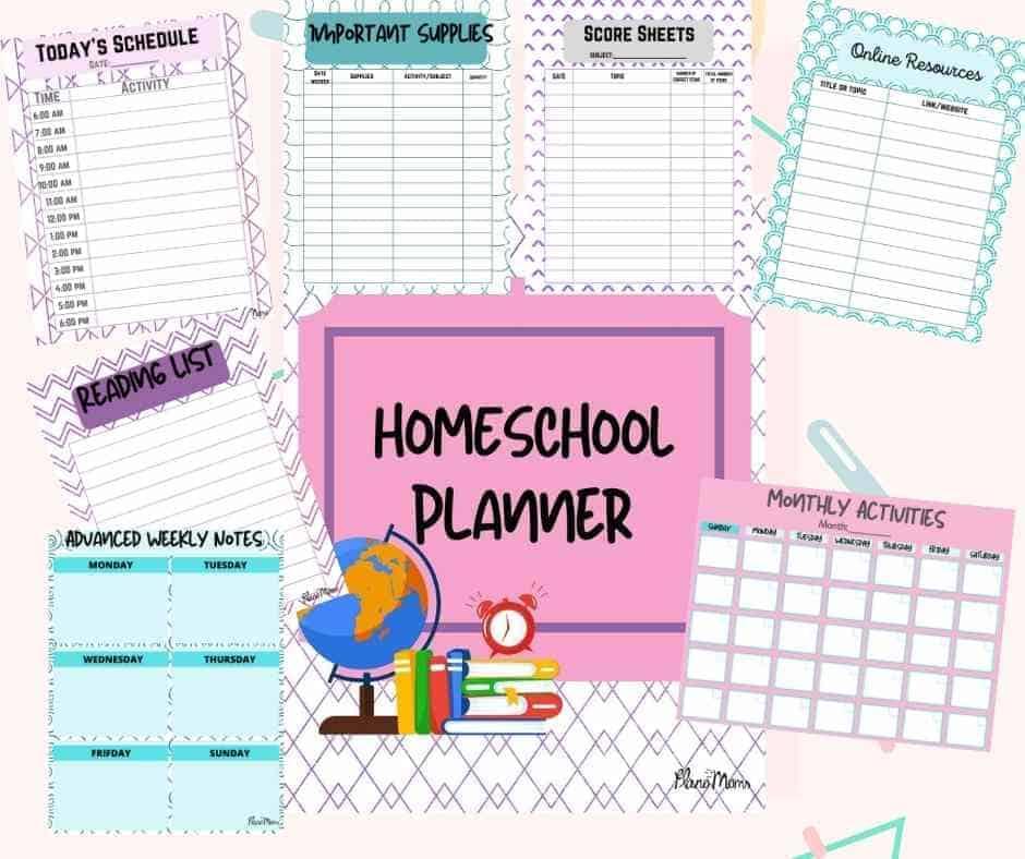Downloadable Homeschool Printable pack