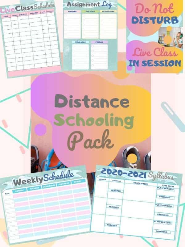 Virtual School Printable pack