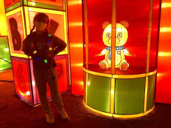 Girl at Yuletide Bright