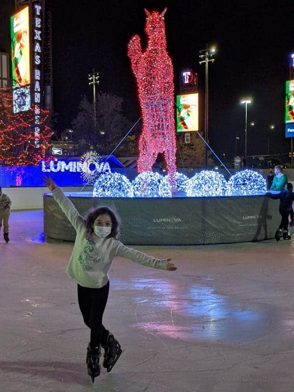 Ice Skating Holiday Lights Dallas