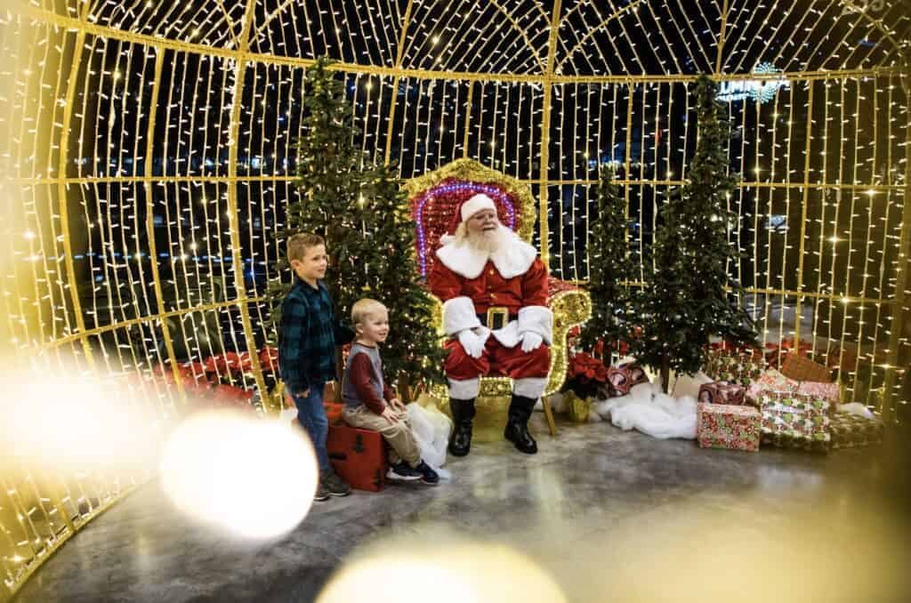 Santa at luminova Holidays