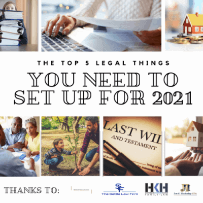 Top 5 Legal Things to set up for 2021