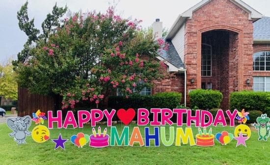 Birthday Outdoor Yard Sign