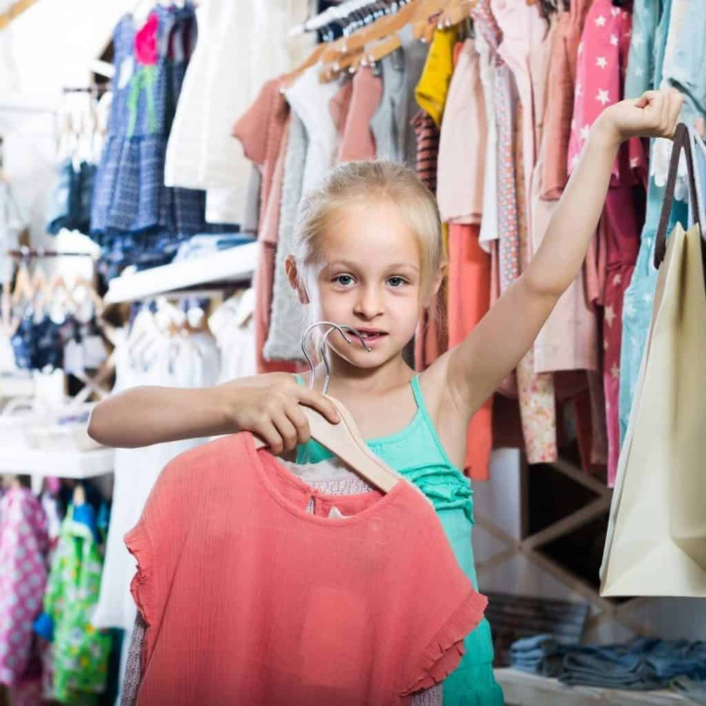 Kids clothes shopping 2
