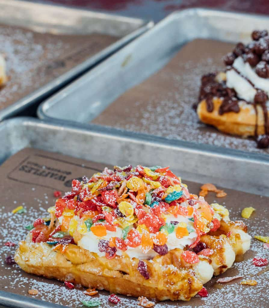 Waffle with toppings in Legacy Hall Plano