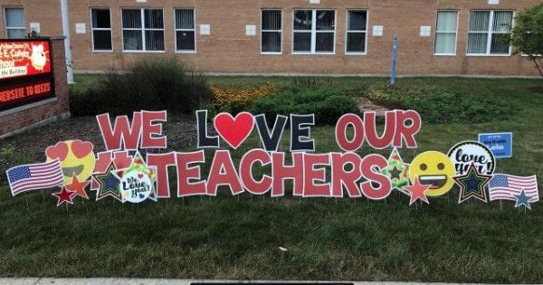Teachers Yard Signs