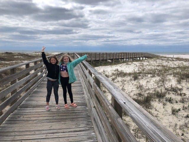 Girls at Orange Beach Alabama