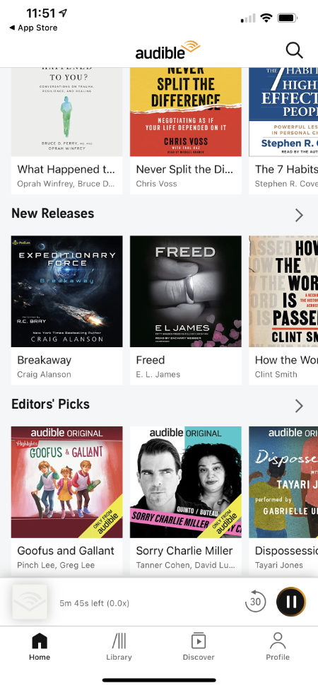 Audible on your phone