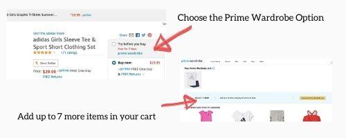 Prime Wardrobe how to