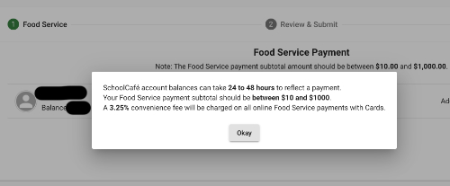 School Cafe payments